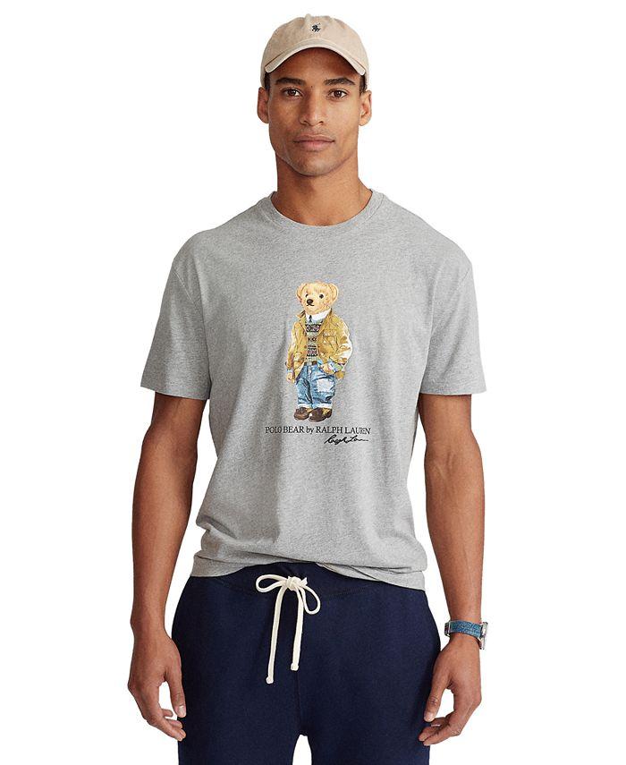 Men's Big & Tall Polo Bear Jersey T-Shirt