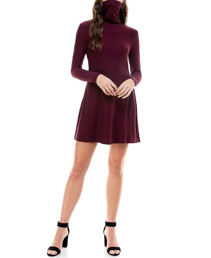 Planet Gold - Juniors' Turtleneck Sweater Dress