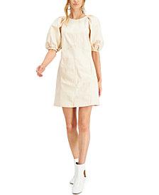 INC Puff-Sleeve Denim Mini Dress, Created for Macy's