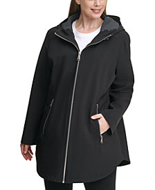 Calvin Klein Plus Size Hooded Raincoat