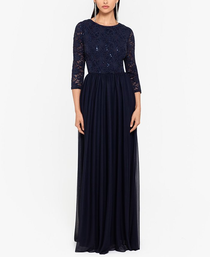Betsy & Adam - Sequin-Lace Gown
