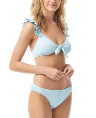 Textured Ruffle Bikini Top