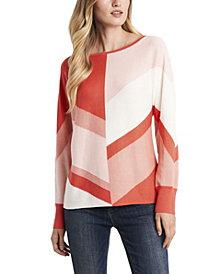 Vince Camuto Women's Dolman Sleeve Chevron Colorblock Sweater