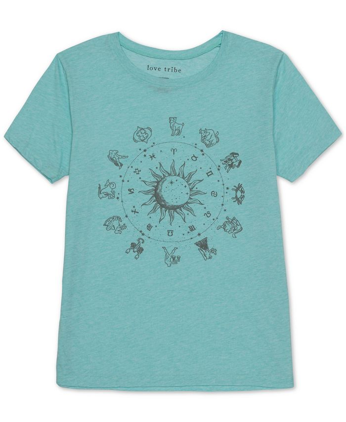 Love Tribe - Juniors' Zodiac Graphic T-Shirt
