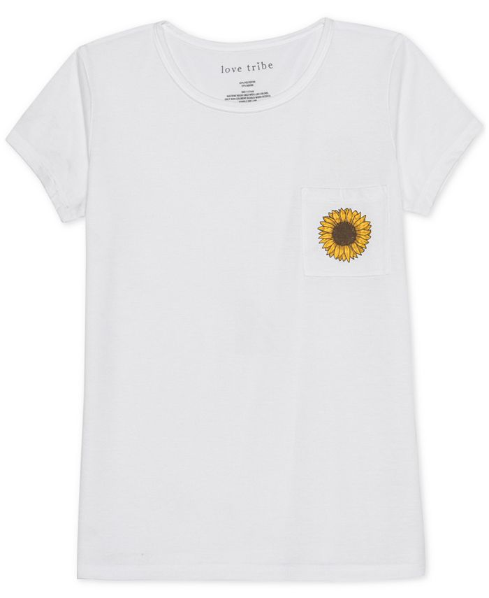 Love Tribe - Juniors' Sunflower Graphic T-Shirt