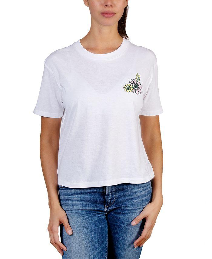 Rebellious One - Juniors' Flower-Graphic T-Shirt