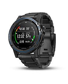 Garmin Unisex  Descent Mk1 Titanium Watch-style Diver Computer Gray Strap Smartwatch 51mm