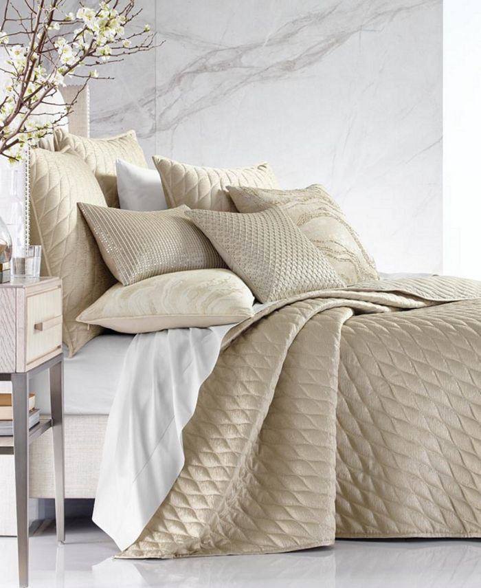 Hotel Collection - Moonstone Queen Coverlet, Created For Macy'S