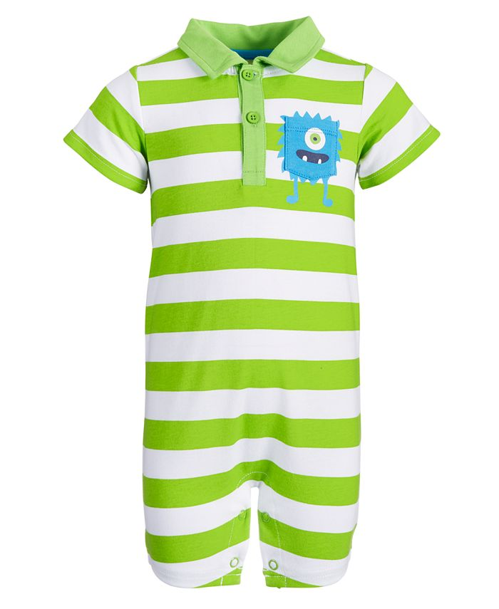 First Impressions - Baby Boys Monster Pocket Cotton Sunsuit