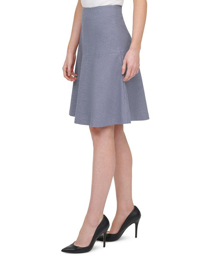 Tommy Hilfiger - Textured A-Line Skirt