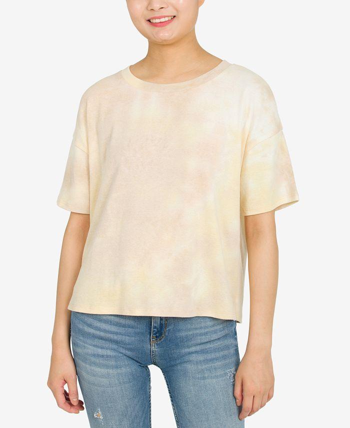 Hippie Rose - Juniors' Tie-Dyed T-Shirt