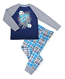Big Boys Varsity Plaid Pajama Set, 2 Piece