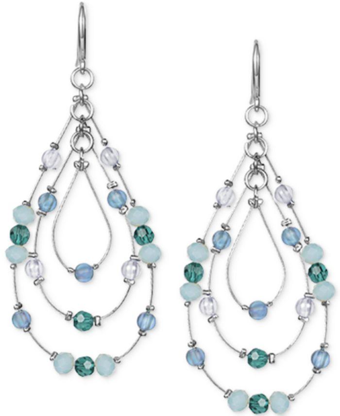 Style & Co - Multi-Bead Triple-Teardrop Drop Earrings
