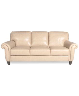 Almafi Leather Sofa Furniture Macy 39 S