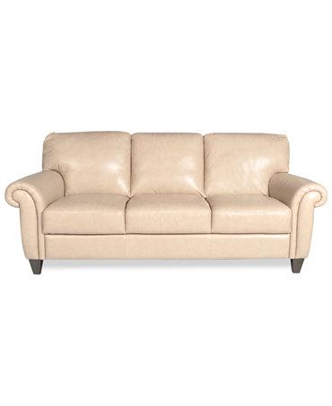 Arianna Leather Sofa Furniture Macy 39 S