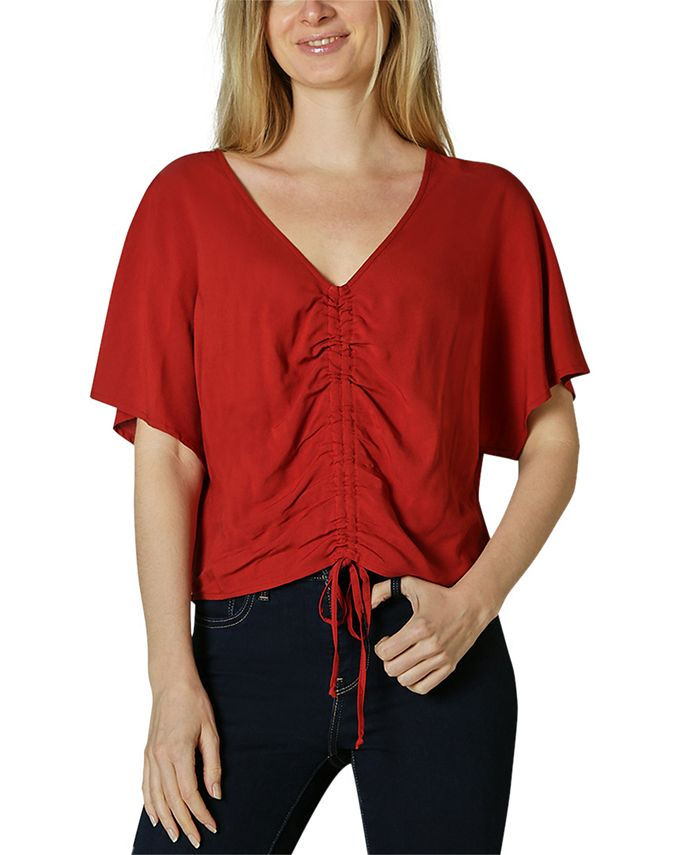 Polly & Esther - Juniors' Project 28 Oversized Ruched Top