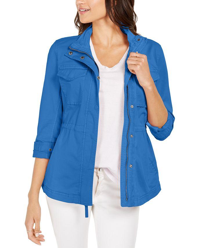 Style & Co - Petite Cotton Utility Jacket