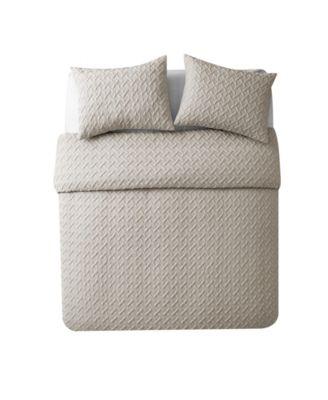 Nina Embossed Comforter Set, Full/Queen