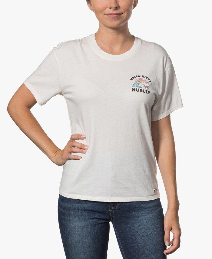 Hurley - Juniors' Surfs Up Cotton Girlfriend T-Shirt