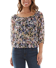 BCX Juniors' Floral-Print Top