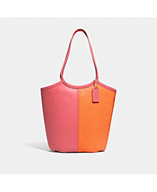 COACH Bea Tote In Colorblock Leather
