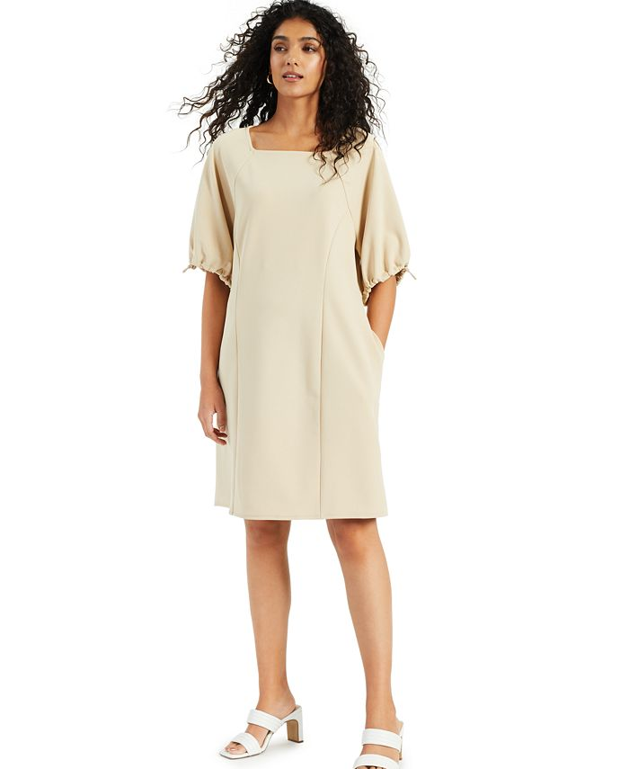 Alfani - Cinch-Sleeve Dress