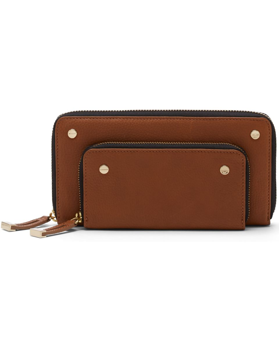 Fossil Memoir Leather Haircalf Flap Wallet   Handbags & Accessories