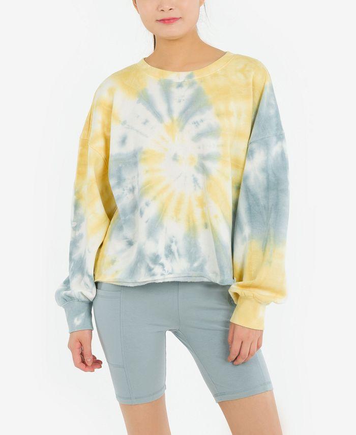 Hippie Rose - Juniors' Burnout Sweatshirt