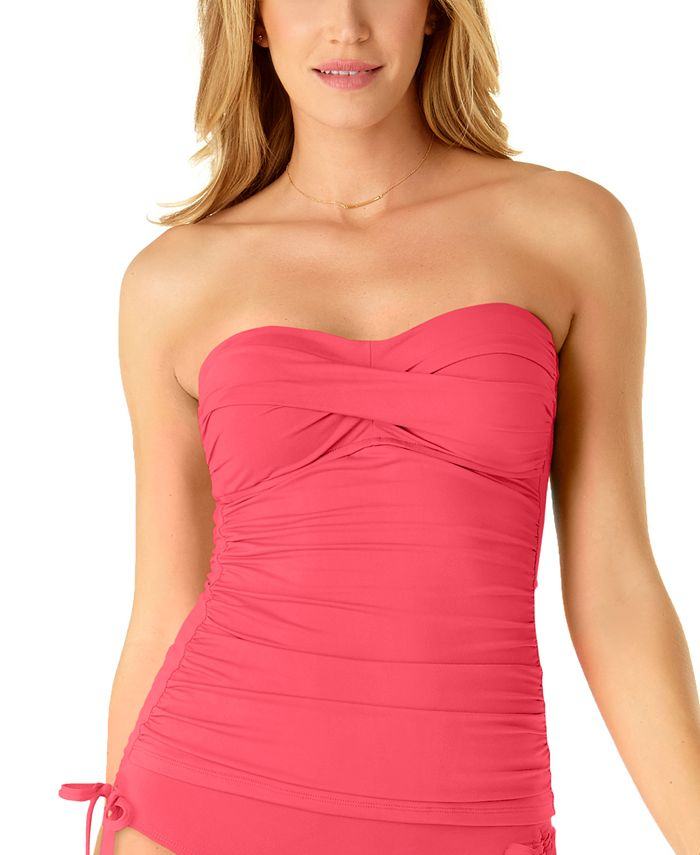 Anne Cole - Twist-Front Ruched Tankini Top