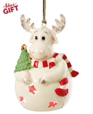 Lenox Christmas Ornament, Color Changing Moose