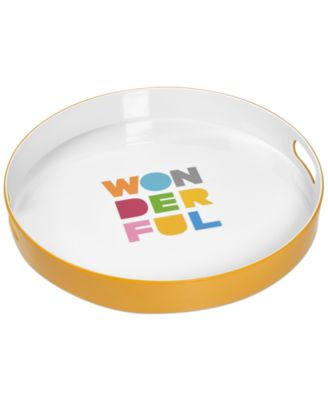 "Novogratz Collection ""Wonderful"" Melamine Serving Tray"