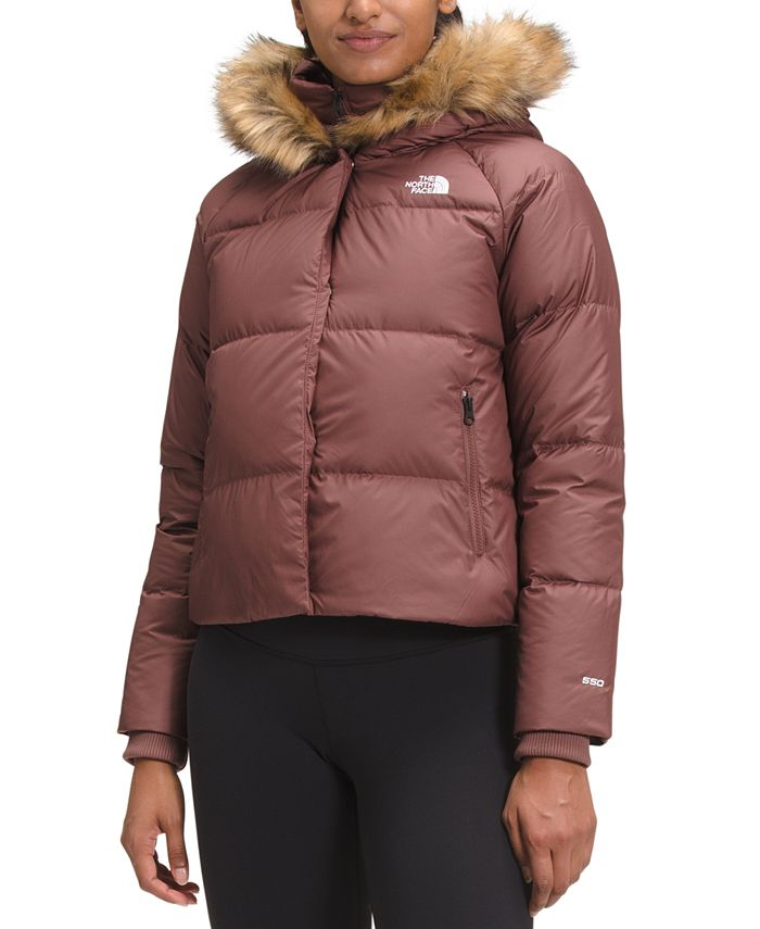 The North Face - Dealio Faux-Fur-Trim Hooded Cropped Parka Coat