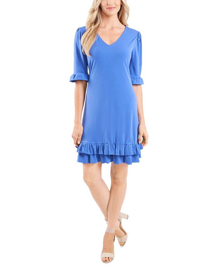 CeCe - V-Neck Ruffled Dress