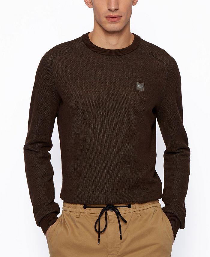 Hugo Boss - Men's Amador Regular-Fit Knitted Sweater