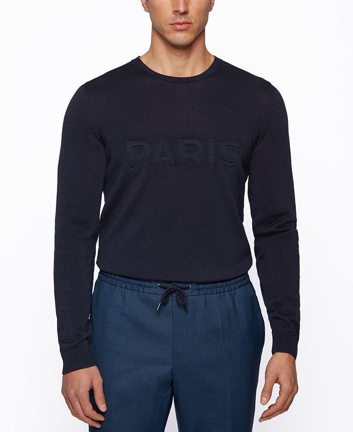 Hugo Boss - Men's Embossed Regular-Fit Sweater