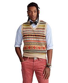 Polo Ralph Lauren Men's Fair Isle Cotton-Blend Sweater Vest