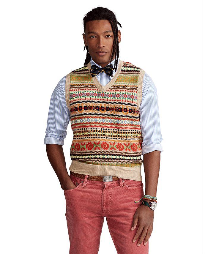 Polo Ralph Lauren - Men's Fair Isle Cotton-Blend Sweater Vest