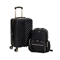 Kenneth Cole Reaction 2-Pc. Chevron Carry-On & Laptop Backpack Deals