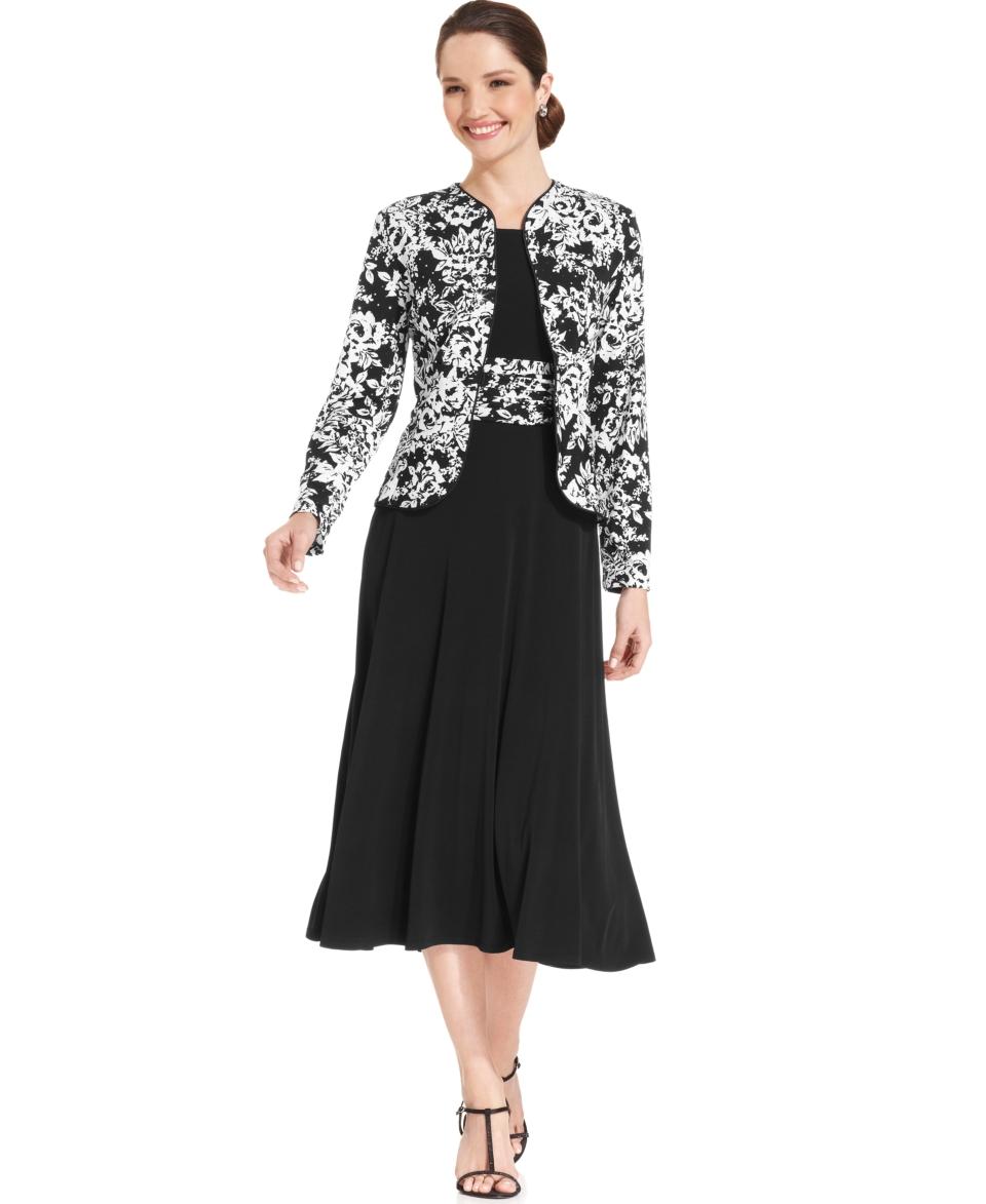 Jessica Howard Sleeveless Floral Print Dress and Jacket   Dresses   Women