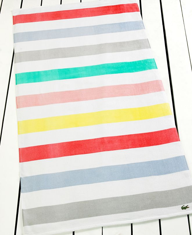 Lacoste Color Block Beach Towel