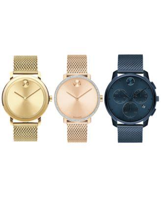 Men's Swiss Bold Stainless Steel Mesh Bracelet Watch 42mm