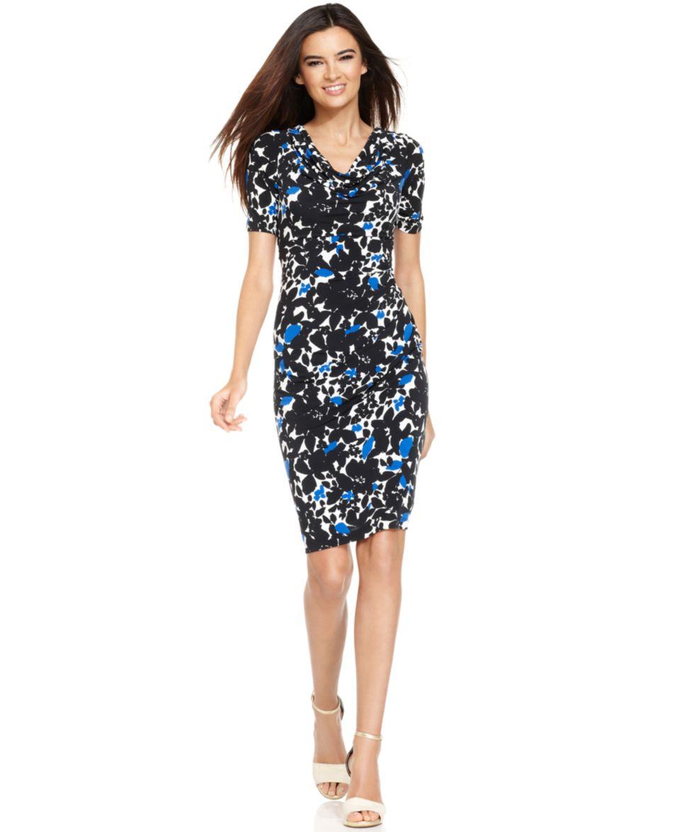 Jessica Howard Short Sleeve Floral Print Dress   Dresses   Women