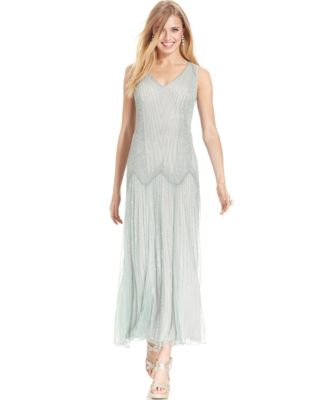 Pisarro Nights Sleeveless Beaded Gown Dresses Women