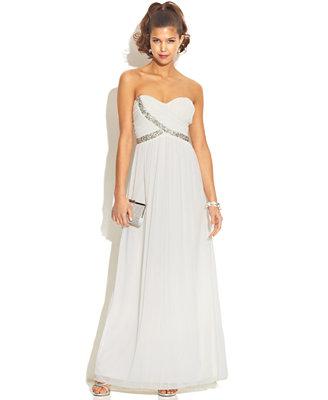 Sale alerts for  City Studio Juniors' Strapless Sweetheart Dress - Covvet