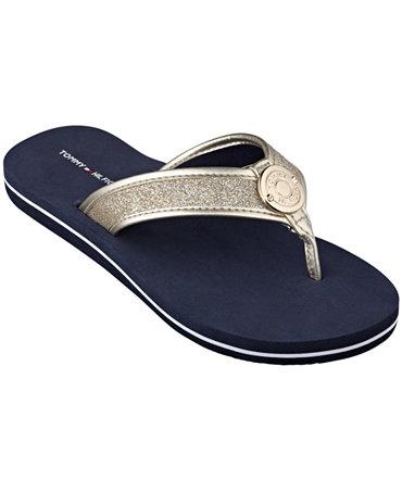 tommy hilfiger women 39 s carma glitter flip flops shoes macy 39 s. Black Bedroom Furniture Sets. Home Design Ideas