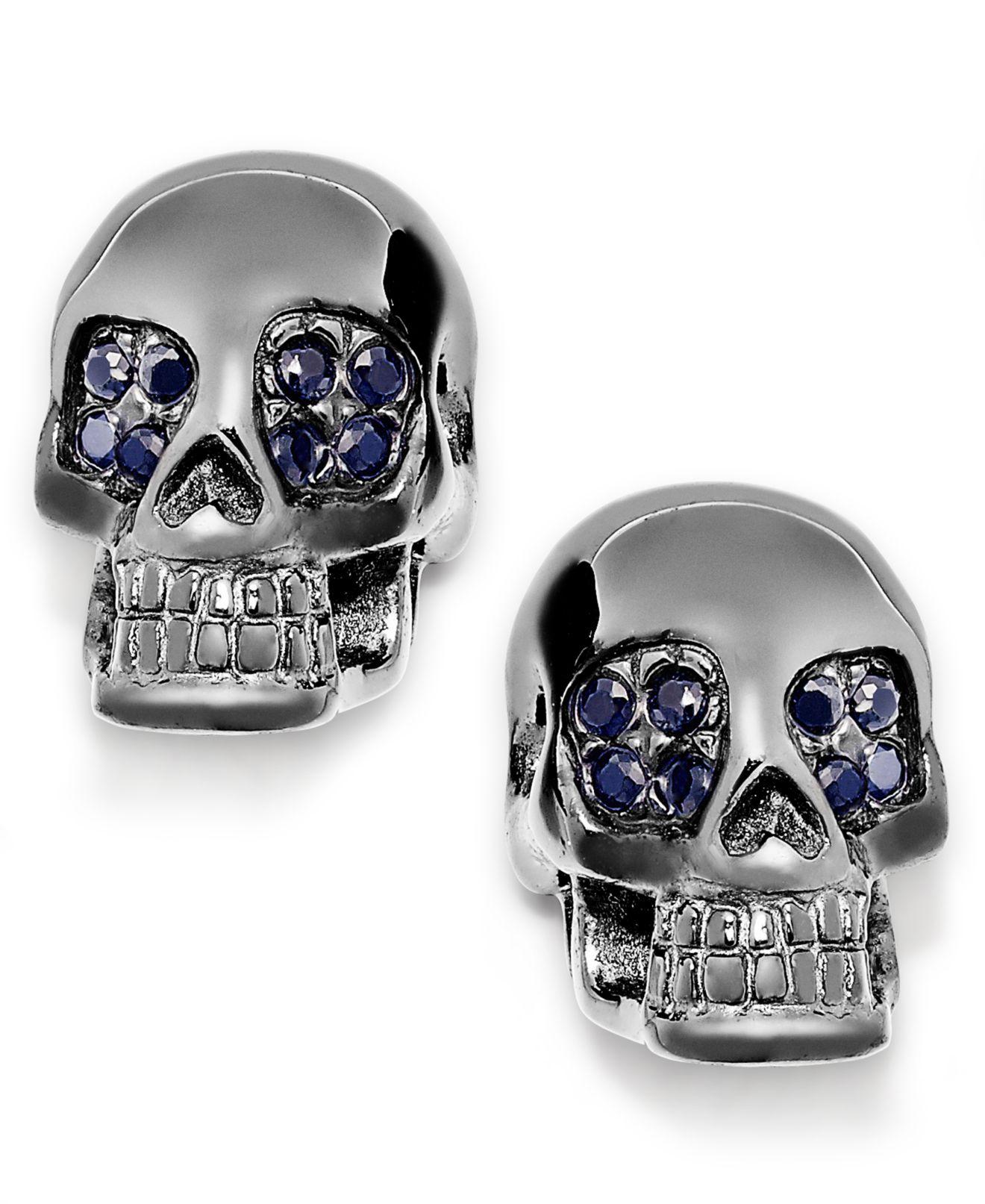 Skulls on Fire Men's Black