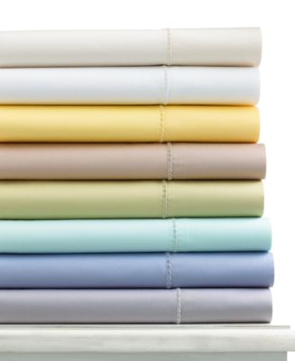CLOSEOUT! Martha Stewart Collection 300 Thread Count Cotton Queen Fitted Sheet