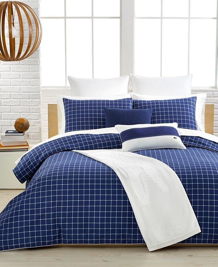 Lacoste Home - Denab True Navy Twin Comforter Set