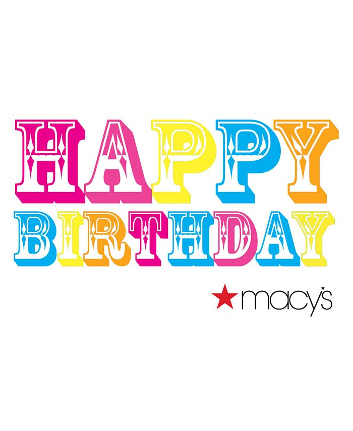 Macy's - Happy Birthday Color E-Gift Card