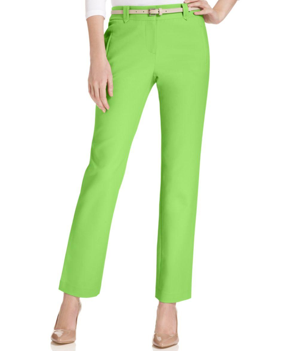 Lauren Ralph Lauren Petite Straight Leg Sateen Dress Pants   Pants   Women